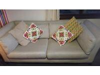 Schriber oatmeal 3 seater sofa