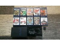Playstation 2 with 10 Games & Memory Card