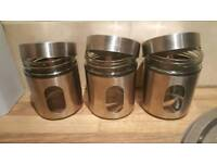 Set of 3 storage canisters