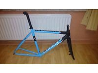 Kinesis CX Race Cyclocross Frame 55.5cm Scandium w/ Carbon Seatpost Cyclocross Bike Disc Brake