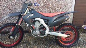 Honda crf 450 twin pipe 2013 , ktm rmz kxf 250