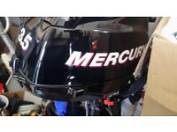 Mercury 3.5 HP 4-Stroke Outboard Engine. like new only 5 hours use