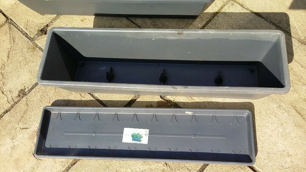 2 X Long Windows Box Type Planter With Drip Tray In Exeter Devon