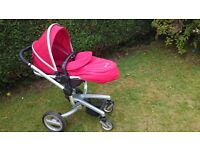 Silver Cross Surf Pram (chilli Red) Buggy Newborn to 3+ years, 3 in 1, inc Manual, Can Deliver