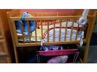 Small cot crib.
