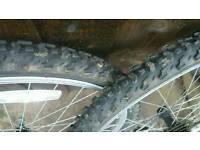 """26"""" mtb wheels and tyres (no rear axle)"""