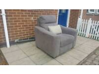 Lovely grey armchair (ex-display item from one of the big furniture stores)