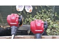 two honda petrol brushcutters 4 stroke