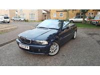 52 / 2002 BMW 318 Ci 2.0l Petrol Convertible Blue 108k miles