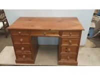 Solid Pine Writing Desk
