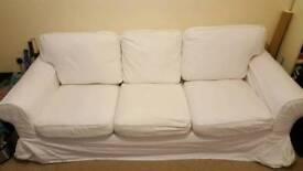 Ikea Ektorp 3 Seater White Sofa