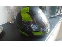 Motorbike helmet with foggy
