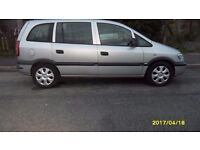 2005 VAUXHALL ZAFIRA 2.0 LITRE DTI DIESEL, 7 SEATER, SELL OR SWAP