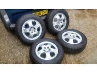 """Mercedes ML 17"""" alloy wheels 255 60 17 tyres 5x112 8j VW AUDI"""