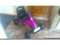 Childs go kart almost new suit age 3-6