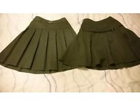 Grey school skirts x2 age 8. Adjustable waistband. From no smoking house