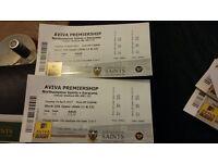 2 Tickets for Northampton Saints v Saracens game