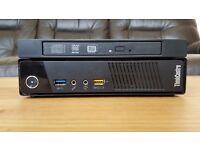 Lenovo ThinkCentre M93 Tiny Form Factor PC i3 4130T 2.9GHz 4GB 500GB DVD Burner Windows 10 Pro