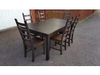 Ikea BJURSTA Extending Table 175cm - 260cm & 6 Kaustby Chairs FREE DELIVERY (02080)