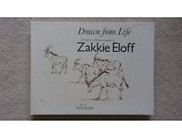 Drawn From Life: A Portfolio of Wildlife Drawings by Zakkie Eloff, Sue Hart - Rare '82 Hardback Book