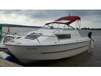 Quayline 18 Sport Cabin Boat 90hp Mercury Outboard Engine
