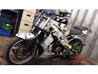 Kawasaki zx6r full stunt bike