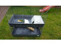Guinea pig / small rabbit cage - 2 tier.