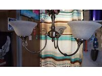Ceiling lights and curtain poles