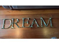 dream letters sign wall art