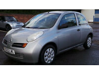 2003 53 NISSAN MICRA 1.0 E 3DR SILVER MOT 08/17(CHEAP PART EX TO CLEAR)