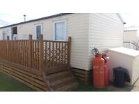 Decking static caravan, 2 sides + steps, gate and paneling, 41ft L, 17ft W, COULD DELIVER/ASSEMBLE