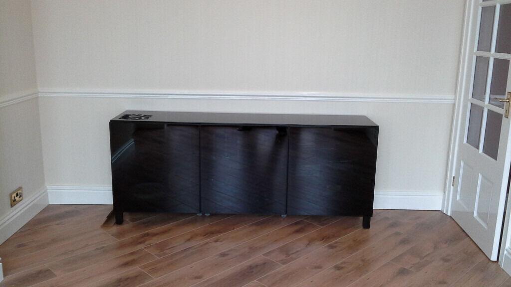 Ikea Credenza Black : Buffet ikea besta trendy tv storage combination