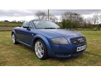 2003 AUDI TT CONVERTIBLE..150 BHP..MOTED TO MAY 2018..POSSIBLE PART EXCHANGE..CREDIT CARDS ACCEPTED