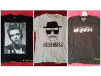 mens brand new t-shirts and jumpers