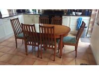EXTEND DINING TABLE 6 CHAIRS CAN DLEIVER
