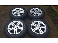 """Mercedes 16"""" Alloys & Winter Tyres (W211 E-Class) (Dunlop Wintersport 3D MO)"""