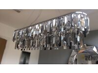 Next crystal hanging light fitting