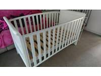 Cot bed with mattress