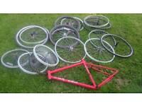 Push bike wheels and frame