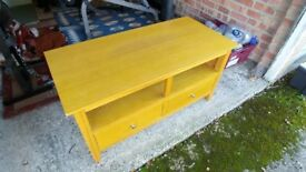 Oak TV Stand with draws