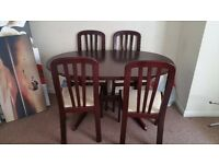 Mahogany Extending Table & 4 chairs