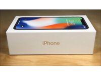 Brand new IPhone X 64gb silver (O2)