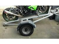 Heavy duty galvanised motorcycle trailer