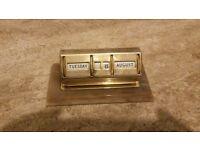 Brass antique desk calendar
