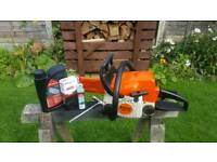 """STIHL MS 170 PETROL 12"""" CHAINSAW WITH SPARE NEW CHAIN"""