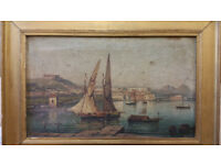 Two Antique Paintings 19th Century - 1800's Raimondo Scoppa Rare Art