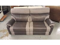 EX DISPLAY RALPH 3 SEATER MANUAL RECLINER SCS SOFA GREY View/Collect Kirkby NG17 CAN DELIVER