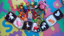 Baby toy bundle including Lamaze and rattles