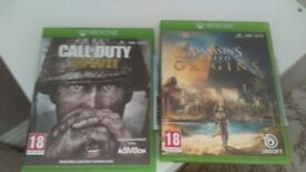 Xbox one assassins creed oringins Call of duty WW2