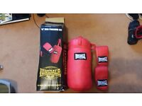 Mini punch bag with mits